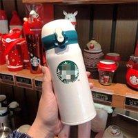 Taza de Starbucks 16oz / 500ml / 350ml / 230ml Termos inteligentes de acero inoxidable Tazas de café Tazas de tazas de dibujos animados Paja Tetera al aire libre Taza de regalo con estilo Thermo para estudiantes