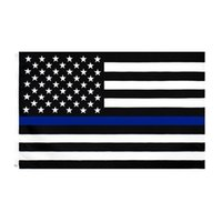3X5FTs 90cmx150 cm Gesetz Vollstreckungsbeauftragte US-amerikanische Polizei dünne blaue Linie Flaggen Blueline USA Polizei-Flaggen Cyz3096