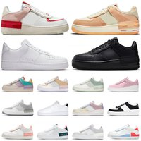 air force one af1 airforce 1 forces 그림자 반응 캐주얼 신발 트리플 블랙 화이트 Chaussures Be True Skeleton Worldwide womens mens trainers outdoor sneakers Platform