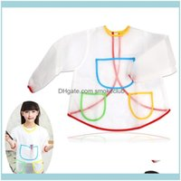 Aprons Textiles Home & Gardenueetek Waterproof Long-Sleeved Children Kids Smock Apron For Painting Drop Delivery 2021 1Mn7U