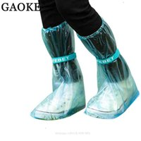 Shoes Accessories Shoes Covers Reusable Rain Cover Women men kids Children Thicken Waterproof Boots Cycle Rain Flat Slip-resistant Overshoes