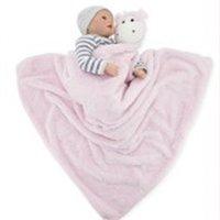 Letti per bambini Crystal Fleece Elephant Blanket Calda Calda Coniglio Orso Coperte Infante Swingdling Cartoon Baby Bed Sheet Borsa a pelo 76 * 76 589 R2