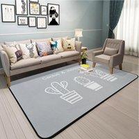 Carpets Nordic Simple Gray Cactus Carpet Living Room Area Rug For Bedroom Soft Kids Sofa Table Bedside Blanket Floor Mat
