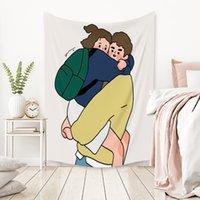 Semplice ragazza stampa tapestry home parete a sospensione decorazione yoga mat spiaggia asciugamani da bagno picnic coperta soggiorno camera da letto sfondo ccf5974