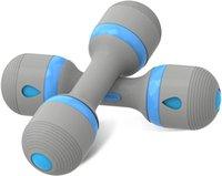 Kadınlar için Ağırlık Ayarlanabilir El-Dambıllar - 1 Takım (2 adet) Egzersiz için Taşınabilir Kauçuk Fitness Ekipmanları