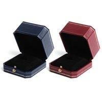 Caja de anillo de lujo Vintage Diseño de joyería Diseño Organizador Valentín Regalos de boda Perfecta compromiso Propulsor Pulseras Bandeja