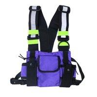 Waist Bags Men Women Fashion Travel Portable Gift Vest Type Reflective Strip Oxford Cloth Adjustable Strap Hip Hop Chest Rig Bag Street