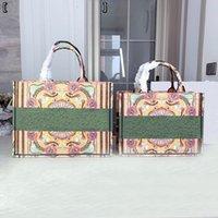 클래식 디자이너 핸드백 여성 쇼핑백 패션 클래식 인쇄 편지 totes 고품질 여성의 기질 숄더 가방