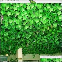 Flores decorativas grinaldas festivas festas suprimentos jardim ins longo plantas ivy artificial escalada artificial tigre uva videira folhagem falsa licença