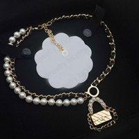 Collar colgante de moda Collares de diseñador Pearl Personalidad Diseño 9 Temperamento de estilo Calidad superior