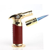 Strong fire 1300c Windproof Cigar Lighter Jet flame Torch Refillable Butane Gas Torch BBQ Camping tobacco pipes lighter ignition tool