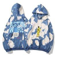 Travis Hoodies Astroworld Street 패션 디자인 편지 넥타이 염색 루스 남성과 여성의 테리 스웨터 가을 겨울 트렌디 한 스웨터