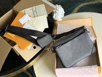 Designer Luxurys Trio 3 stücke Umhängetaschen + Geldbörsen Alte Blumendruck Herren- und Damenmode Mode Crossbody Messenger Bag Berühmte Marke Handtaschen