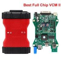 Leitores de Código Ferramentas Ferramentas Full Chip VCM II Carro Ferramenta de diagnóstico 2 em 1 Auto Professional Vehicles Scanner IDs VCM2 com caixa de plástico