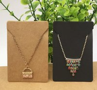 2021 100pcs lot 5x7cm Kraft Paper Necklace Pendant Cards Jewelry Packing Cards for jewelry accessory Display Card