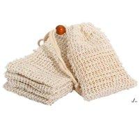 حقيبة الصابون الطبيعية رامي شبكة بار الصابون فرك أكياس حمام فرش الرباط حالة حامل الجلد تنظيف الجلد تجفيف الحقيبة التخزين dwe6411