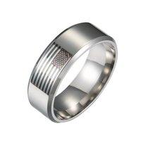 8mm Cool Steel de acero inoxidable EE.UU. Ring Men's Ring For Man Silver Mujeres Hombres Anillos Anillos Para Hombre Fábrica Bajo Precio
