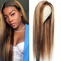 Lace Wigs 13x4 Straight Front Wig Highlight Human Hair 30 Inch 13x6 Piano Color Frontal Fro Women