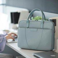 Briefcases 2021 Elegant Solid Laptop Bag Simple Handbags For Office Women Shoulder Casual Big Tote Ladies Crossbody Bags