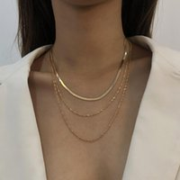 Chains Simple Halloween Women's Neck Chain Multi-Layered Fashion Golden Necklace Korean Vintage Jewelry