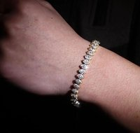 8MM 14k Gold Plated Eyes Of Horus Line CZ Tennis Bracelet Cubic Zirconia Bracelets for Men Women Hip Hop Jewelry