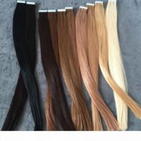 ELIBESS HAR-EURONE الإنسان الشريط الشعر التمديد 40PCS الجلد لحمة الشعر
