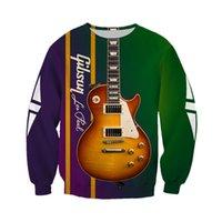 Women's Hoodies & Sweatshirts Fashion Harajuku Sweatshirt Beautiful Electric Guitar 3D Full Printing Hoodie Zip Hoodie Unisex Casual Sportswear N012 Y6WX