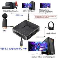USB 3.0 para - Cartão de captura de jogo de áudio de vídeo-computadortável com loop para transmitir filmadoras de transmissão ao vivo