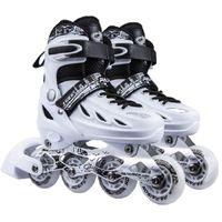 Unisex pu-roller inline skridskor skor speedroller skridskor sneakers för vuxna justerbara casual patins storlek 35-44 rulle