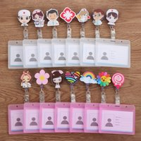2021 NEW New Nurse Doctor Retractable Badge Reel with Horizontal Style Aluminum ID Business Card Work Card Badge Holder Office S