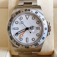 U1 AAA + Mens 시계 Exp Black 40mm GMT 사파이어 316 강철 GMT 손으로 자동 기계식 스테인리스 팔찌 남자 시계, 마녀 상자