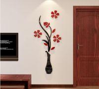 Wallpaper 3D Vase Wall Murals for Living Room Bedroom Sofa Backdrop Tv Background, Originality Stickers Gift, DIY