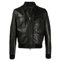 Amir i same clothes amiry SLP leather patch used black locomotive denim jacket for men women in autumn and winter KXBH 5WY5