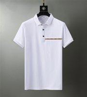 2021 Designers T shirt Summer Europe Paris Polos American Stars Fashion Mens tshirts Star Satin 100% Cotton Polo Casual t-shirt Women mans Tees Black White M-3XL TL#03