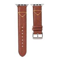 Gandbands de la créatrice de mode Sangle pour la bande de montre Apple 38mm 42mm 40mm 44mm IWatch 5 4 3 2 Bandes Bandes de luxe PU Cuir Bracelet Bracelet Lettre de la lettre imprimée