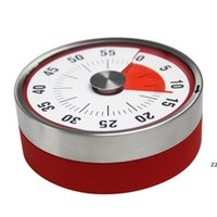 8cm Mini Mechanical Countdown Küchenwerkzeug Edelstahl Runde Form Kochzeituhr Alarm Magnet Timer Erinnerung HWB11098