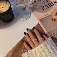 Wedding Rings Light Luxury Female Fashion Personality Show White Index Finger Ring Tide Accessories