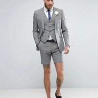 Men's Suits & Blazers Summer Boys With Short Pant Weddings Children Suit Kid Wedding Prom For 2 Pcs (Jacket+Pants+Tie )