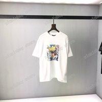 21SS Street European Street Dernière catégorie Modèle Model Lettre d'impression Sports Casual T-shirt Designer Homme T-shirt minimaliste de haute qualité pour hommes et femmes