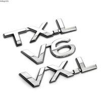 3D Chrome V6 VXL TXL TX-L VX-L Badge Umsetzung Emblem Autoaufkleber Entladungskapazität Logo für Toyota Prado Car Styling