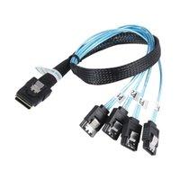 Sas Sata Cable Mini-SAS SFF-8087 To 4 Mini 4i SFF8087 36P 7P 12Gbps 50cm Hard Drive Data ForMiner Computer Cables & Connectors