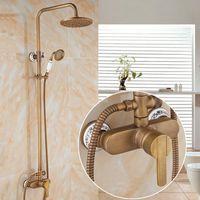 Chuveiro antigo conjunto Europeu-estilo vintage cabeça de latão torneira de banheiro doméstico aparelhos de pulverização superior AT899