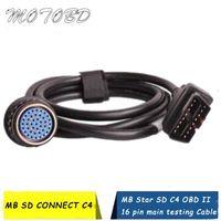 Диагностические инструменты 2021 Качество SD Connect Compact4 OBD2 16PIN кабель для MB Star C4 OBD II 16 PIN-код Основное тестирование