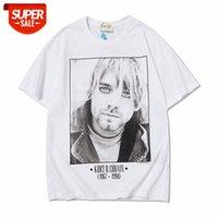 Estate nebbia keben kurt cobain rock band retrò ritratto ritratto stampa coppia a maniche corte T-shirt marea # UN6B