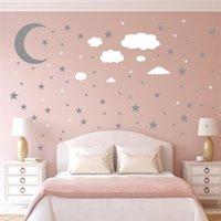 3шт наклейки на стену на набор звезд Звезды облака Moon Diy Plated Gold Silver Kids Art Steens Украшение Кухни 6ym K2