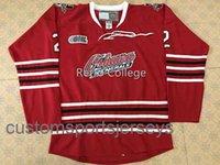 Oshawa Généraux 2 Bobby Orr Red Homme Jersey Jersey Broderie cousu Personnalisez n'importe quel numéro et nom