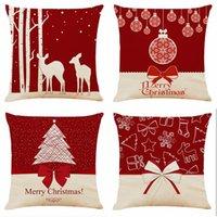 Cushion Decorative Pillow 2021 Christmas Home Decoration Xmas Decor Case Santa Cotton Linen Sofa Car Throw Cushion Cover