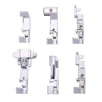 Noções de costura Ferramentas Inne 6 Pcs Overlock Machine Presser Set Ferramenta Doméstica Overlocking Multifunction Adequado para máquinas pesadas 644