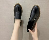 Dress Shoes Low Heel Ladies Casual Single Saltos Autumn Women's Loafers Leather Thick Platform Slip On Female Fashion Comfort