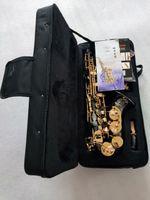 Alta qualità Yanagisawa S-992 nero curvo collo soprano sassofono concerto strumenti musicali sax con bocchino